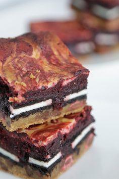 Your slutty brownies just got even sluttier with a swirl of red velvet!