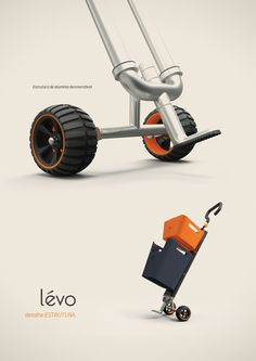 Lévo is a personal multi-use cart that aims to make shopping of all sorts a cinch. Simply fill up each interchangeable basket and reattach to the Charles Ray Eames, Velo Cargo, Materiel Camping, Urban Apartment, Industrial Design Sketch, Presentation Layout, Vintage Design, Design Process, Interior Design Living Room