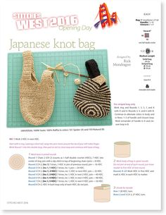 Japanese Knot Bag | The Knitting Universe
