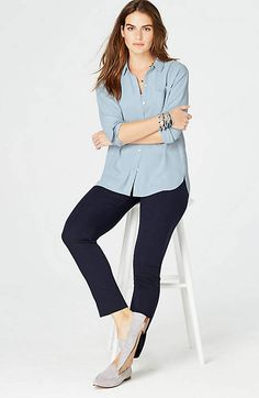 Relaxed Shirttail Blouse | JJillclose