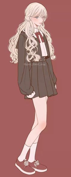 Manga Girl, Anime Art Girl, Pretty Anime Girl, Beautiful Anime Girl, Cute Anime Character, Character Art, Mode Ulzzang, Character Design Girl, Anime Dress