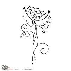 In questo disegno, le ali e la testa della fenice diventano i petali esterni del fiore di loto, mentre la coda diventa il suo gambo. La fenice rappresenta l´eternità e la rinascita, ed il fiore di loto simboleggia la perfezione ed il superamento delle difficoltà.
