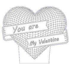 My Valentine heart 3d illusion vector file - 3bee-studio