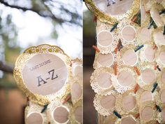 Escort cards - Colorful Fort Worth Wedding captured by Jess Barfield - via ruffled
