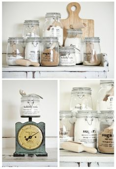 decal transfer jar labels (includes printable images). DONE