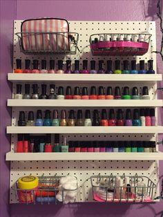 10 minutes 10 and 1 tool diy nail polish rack nails pinterest 33 creative makeup storage ideas and hacks for girls nail polish standdiy nail polish racknail solutioingenieria Gallery