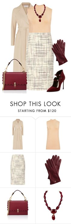 """""""outfit 7801"""" by natalyag ❤ liked on Polyvore featuring Harris Wharf London, Mark & Graham, Fendi, Chanel and Christian Dior"""