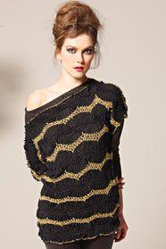 dámský ručně háčkovaný pulovr z příze Merino Silk a Palila