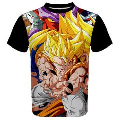 Dragonball, Shirt, Anime, Manga, Goku, Vegeta, T-Shirt, Super, Saiyan, Black, Manga Shirt, Anime Shirt, Men's Shirt, SSJ, DBZ, Dragon Ball Z