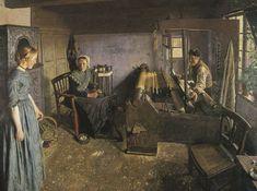Bernard Winter, Die Webstube, 1896, Landesmuseum für Kunst und Kulturgeschichte Oldenburg, Postcard collection of Maggie Land Blanck, 2005.