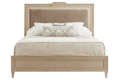 Alessandra Upholstered Bed, Wheat