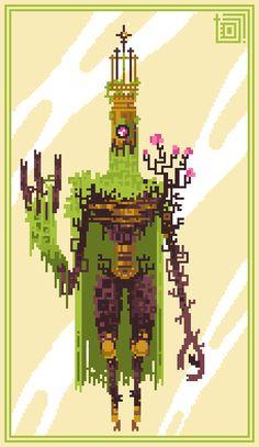 Moss Pontiff by Sky-Burial on DeviantArt Creature Concept Art, Creature Design, Character Design Animation, Character Art, Rpg Map, Pixel Characters, 8bit Art, Pixel Animation, Pixel Art Games