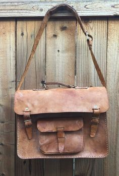 Genuine Vintage Leather Messenger Bag Purse Leather Cross Body Satchel Tote | eBay