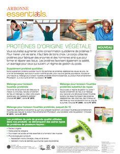 Faites le plein de protéines! Le supplément protéiné quotidien fournit 10 grammes de protéines végétaliennes issues de pois, de riz et de canneberges, sans sucre ni arômes ajoutés, pour une plus grande polyvalence. Ajoutez une mesure du produit à une boisson fouettée protéinée Arbonne Essentials, au produit Post-entraînement ou à tout autre aliment ou boisson pour augmenter votre apport en protéines. Les protéines favorisent le sentiment de satiété, ce qui est bénéfique pour la gestion du… Daily Protein Intake, Arbonne Nutrition, Arbonne Business, Les Sentiments, Healthier You, Our Body, Body Care, Anti Aging, Health And Wellness