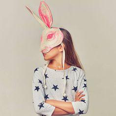 Frida's Tierchen Chapeau - masque tête de lapin en feutre