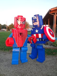 Hand made lego man costumes