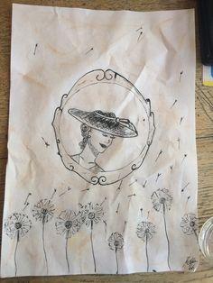 Self-made 'vintage' drawing