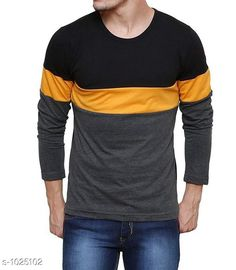 Tshirts Men's Trendy Cotton Solid T-Shirt  *Fabric* Cotton  *Sleeves* Full Sleeves Are Included  *Size* S, M, L, XL,XXL (Refer Size Chart)  *Length* Refer Size Chart  *Fit* Regular Fit  *Type* Stitched  *Description* It Has 1 Piece of Men's T-Shirt  *Pattern * Striped  *Sizes Available* XXS, XS, S, M, L, XL, XXL, XXXL, 4XL, 5XL, 6XL, 7XL, 8XL, 9XL, 10XL, Free Size *    Catalog Name: Rigo Men's Stylish Cotton Solid T-Shirts Vol 3 CatalogID_123827 C70-SC1205 Code: 862-1025102-