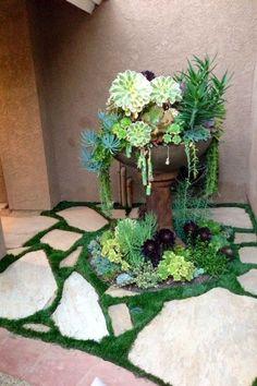 decora una esquina con plantas