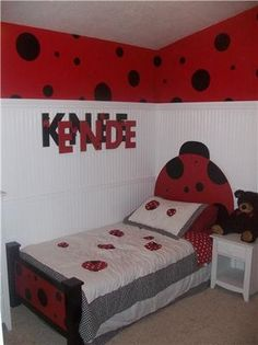 I Wanted To Share With Everyone Pictures Of The Bedroom That Inspired Lady Bug Bed Have Always Loved Themed Rooms For Little Kids An