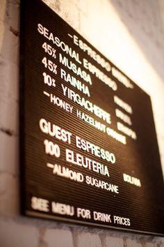 Menu board - useful for many cafe or casual settings. Menu Signage, Retail Signage, Menu Design, Cafe Design, Beer Fridge, Menu Holders, Vintage Menu, Café Bar, Menu Boards