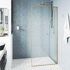 Modern Shower, Modern Bathroom, Modern Small Bathrooms, Small Shower Bathroom, Small Bathroom Designs, Master Bathroom, Small Bathroom Inspiration, Contemporary Shower, Inspiration Wall