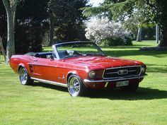 67 Mustang Convertible-what a dream. My dad's dad had a 67 in green. Red Mustang, Mustang Cobra, Sexy Cars, Hot Cars, Vintage Cars, Antique Cars, Ford Mustang Convertible, Classic Mustang, Pony Car