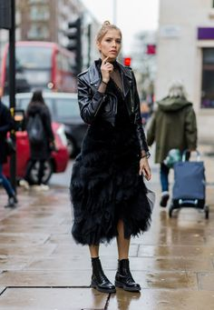 Pin for Later: The Fashion Crowd Hit the Streets of London in Style Day 4 Elena Perminova