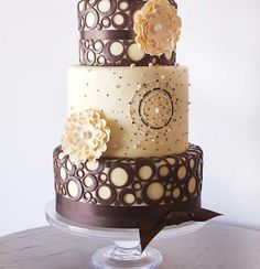 Snickers Filled Chocolate Wedding Cake