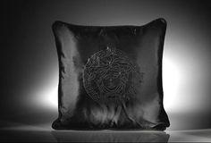 Versace Medusa Black Cushion Versace Home, Versace Fashion, Im Coming Home, Black Cushions, Boho Life, Italian Fashion, Fashion Company, Medusa, Home Collections