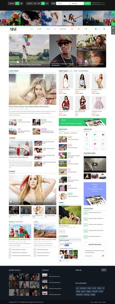 Tini New Joomla Template for News Magazine Shop on Inspirationde Web Design Awards, News Web Design, Web Dashboard, Ui Web, Magazine Examples, Joomla Templates, Newspaper Design, News Website, News Blog