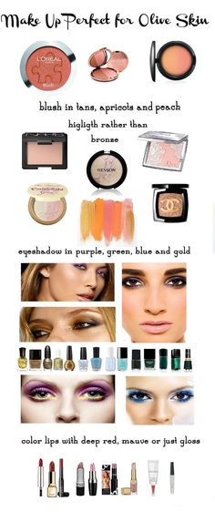 make up for olive skin tan peach apricot use highlighter rather than bronze avoid pastels and pinks Mascara, Eyeliner, Mauve Lipstick, Lipgloss, Mood Lipstick, Lipstick Shades, Liquid Lipstick, Purple Lips, Beauty