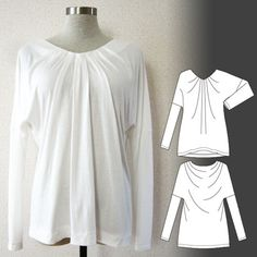 [Free Downloadable] Athena / V-neck Drape Tee