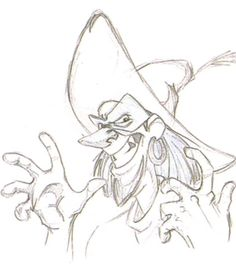 "Concept art of Clopin from Disney's ""The Hunchback of Notre Dame"" (1996)."