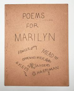 Poems for Marilyn by Ed Sanders, Marilyn Monroe on Division Leap John Key, Typewriter, Marilyn Monroe, Division, Role Models, Writers, Poems, Templates, Sign Writer