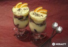Narancsos guba kehely Desserts In A Glass, Guam, Trifle, Panna Cotta, Nom Nom, Sweet Treats, Dessert Recipes, Food And Drink, Ice Cream