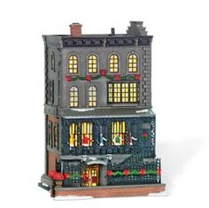 """Department 56: Products - """"21 Club"""" - View Lighted Buildings"""