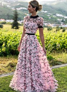 A Line Round Neck Short Sleeves Prom Dresses with Flowers, Flowers Pink Formal Dresses, Graduation Dresses Source by dresses Pink Formal Dresses, Floral Prom Dresses, Prom Dresses 2017, Cheap Prom Dresses, Pretty Dresses, Sexy Dresses, Beautiful Dresses, Evening Dresses, Fashion Dresses