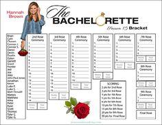 Bachelorette Bracket - Season 15 - Hannah Brown - Jeans and a Tank Top Bachelorette Finale, Abc The Bachelor, Nick Viall, Christian Bride, Kaitlyn Bristowe, Hannah Brown, Brown Jeans, One Rose