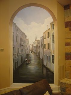 Venice Faux niche mural.  www.dwcustommurals.com, Dream Walls Murals and faux Finish. By Artist Alfredo Montenegro