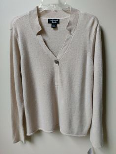 NEW PECK & PECK V- Neck Cashmere Sweater Camel XL #PeckPeck #Pullover #any