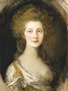 The Princess Augusta of the United Kingdom (1768-1840). She was the daughter of King George III and his wife, The Princess Sophie Charlotte of Mecklenburg-Strelitz. [portrait by Thomas Gainsborough, 1782]