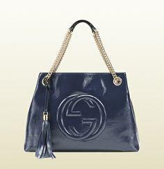 soho patent leather shoulder bag