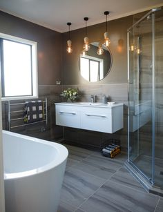 Bathroom reno: from peach cabinetry to sophisticated and sleek - Homes To Love