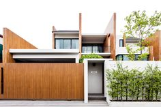 Image 1 of 29 from gallery of Sanambinnam House / Archimontage Design Fields Sophisticated. Photograph by Daybeds Thailand Facade Design, Fence Design, Exterior Design, House Design, Residential Architecture, Modern Architecture, Two Storey House, Design Fields, Architect House