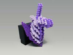 3D Unicorn Head Perler Bead Wall Decor by MIZGVUSdesigns - Pattern: https://de.pinterest.com/pin/374291419012759970/