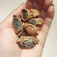 WoollyWood |украшения из дерева|