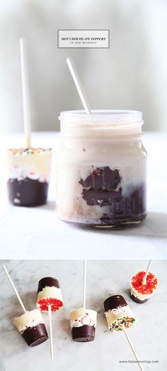 Hot Chocolate Dippers by Le Zoe Musings. Perfect for your hot chocolate or coffee!