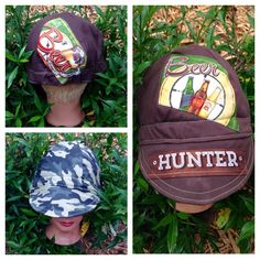 A personal favorite from my Etsy shop https://www.etsy.com/listing/246499535/welder-cap-for-the-hunter-who-loves-beer