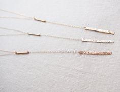Y Necklace, Long Bar Necklace